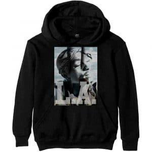 Tupac Mens Pullover Hoodie: LA Skyline (XXX-Large)