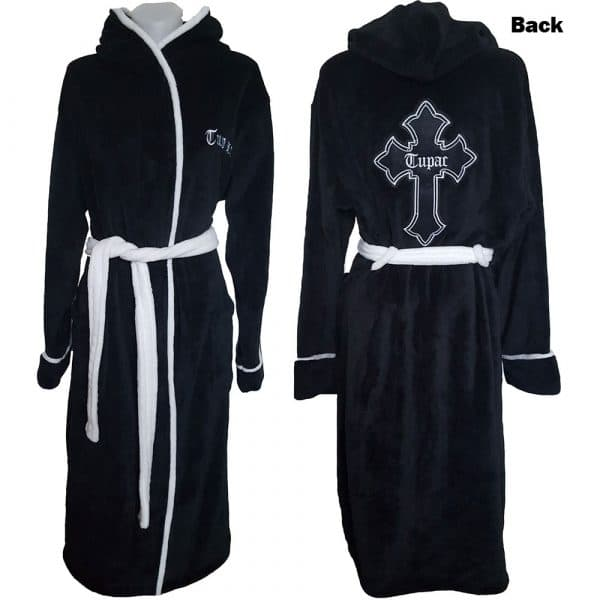 Tupac Unisex Bathrobe: Cross (Large - X-Large)