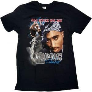 Tupac Mens T-Shirt: All Eyez Homage (XX-Large)