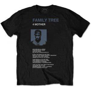 Tupac Mens T-Shirt: Family Tree (XX-Large)