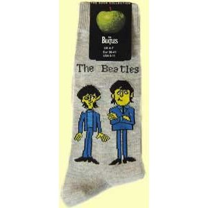 The Beatles Ladies Ankle Socks: Cartoon Standing (UK Size 4 - 7)