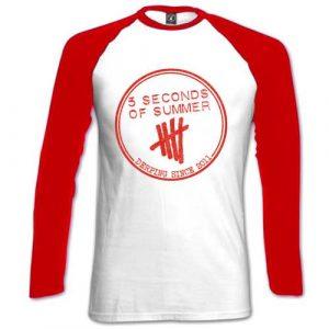 5 Seconds of Summer Ladies Raglan T-Shirt: Derping Stamp (X-Large)