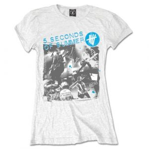 5 Seconds of Summer Ladies T-Shirt: Live Collage (X-Large)