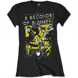 5 Seconds of Summer Ladies T-Shirt: Live! (X-Large)