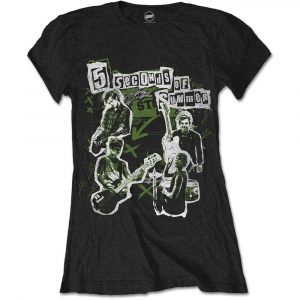 5 Seconds of Summer Ladies T-Shirt: Live! Collage (XX-Large)