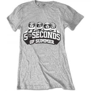 5 Seconds of Summer Ladies T-Shirt: Spaced Out Crew (XX-Large)