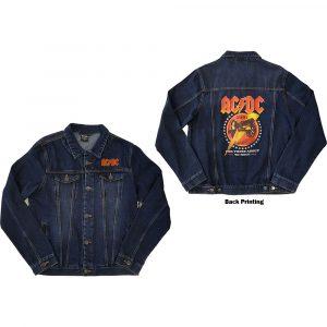AC/DC Mens Denim Jacket: About To Rock (Back Print) (XX-Large)