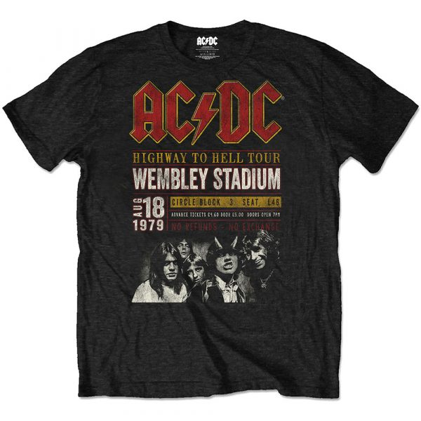 AC/DC Mens Eco-T-Shirt: Wembey '79 (XX-Large)