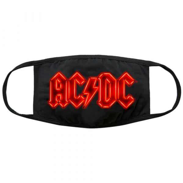 AC/DC Face Mask: Neon Logo