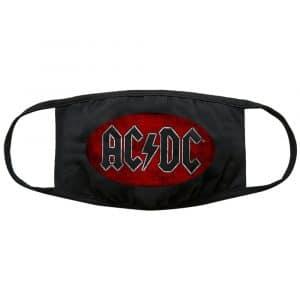 AC/DC Face Mask: Oval Logo Vintage