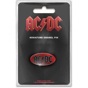 AC/DC Mini Pin Badge: Oval Logo
