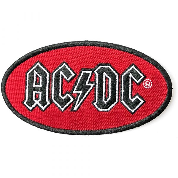 AC/DC Standard Patch: Oval Logo