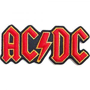 AC/DC Standard Patch: Cut-Out 3D Logo