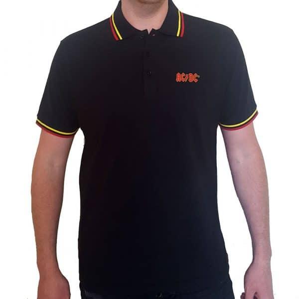 AC/DC Mens Polo Shirt: Classic Logo (XX-Large)