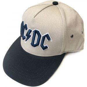 AC/DC Unisex Snapback Cap: Navy Logo