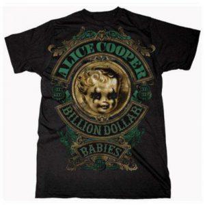 Alice Cooper Mens T-Shirt: Billion Dollar Baby Crest (XX-Large)
