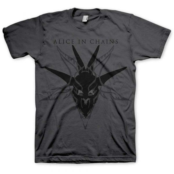 Alice In Chains Mens T-Shirt: Black Skull