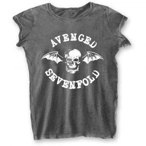 Avenged Sevenfold Ladies T-Shirt: Deathbat (Burn Out) (XX-Large)