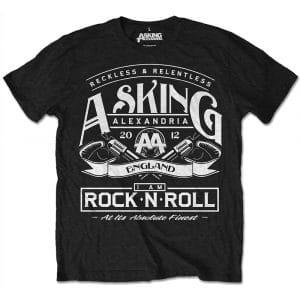 Asking Alexandria Mens T-Shirt: Rock N' Roll (Retail Pack) (XX-Large)
