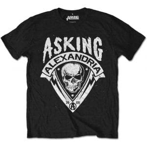 Asking Alexandria Mens T-Shirt: Skull Shield (Retail Pack) (XX-Large)