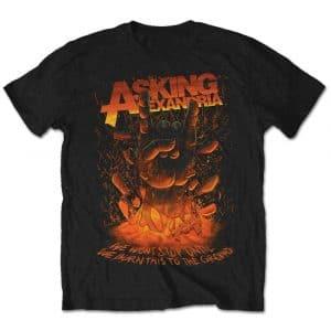 Asking Alexandria Mens T-Shirt: Metal Hand (Retail Pack) (XX-Large)