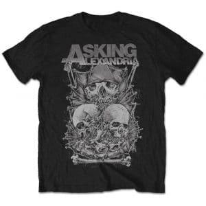 Asking Alexandria Mens T-Shirt: Skull Stack (Retail Pack) (XX-Large)