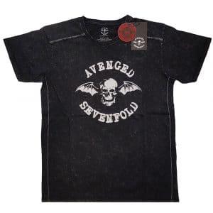Avenged Sevenfold Mens T-Shirt (Snow Wash): Logo (XX-Large)