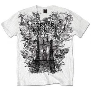 Avenged Sevenfold Mens T-Shirt: Land of Cain (XX-Large)