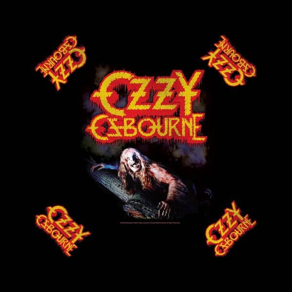 Ozzy Osbourne Unisex Bandana: Bark at the Moon