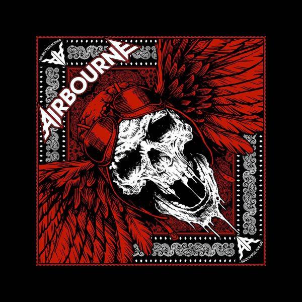 Airbourne Unisex Bandana: Red Skull