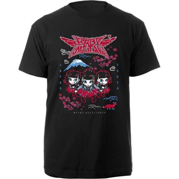 Babymetal Mens T-Shirt: Pixel Tokyo (XX-Large)