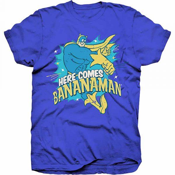 Hasbro Mens T-Shirt: Here Comes Bananaman