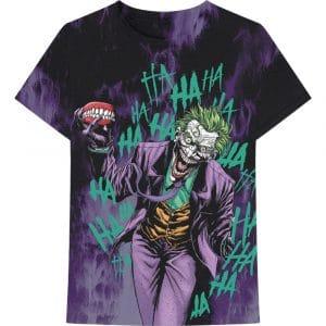 DC Comics Mens T-Shirt: Joker All Over Faded (XX-Large)