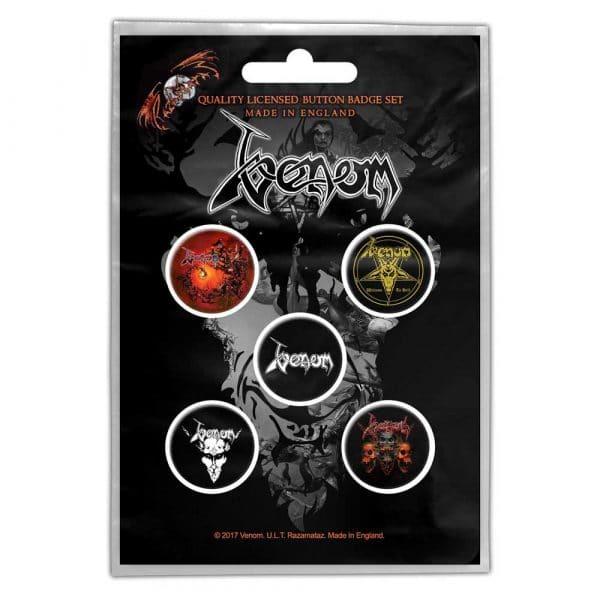Venom Button Badge Pack: Black Metal (Retail Pack)