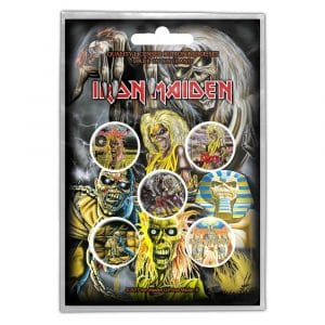 Iron Maiden Button Badge Pack: Early Albums (Retail Pack)