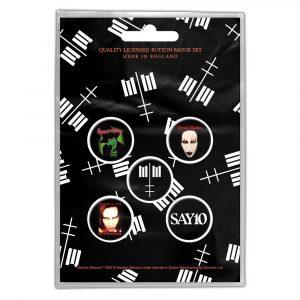 Marilyn Manson Button Badge Pack: Cross Logo (Retail Pack)