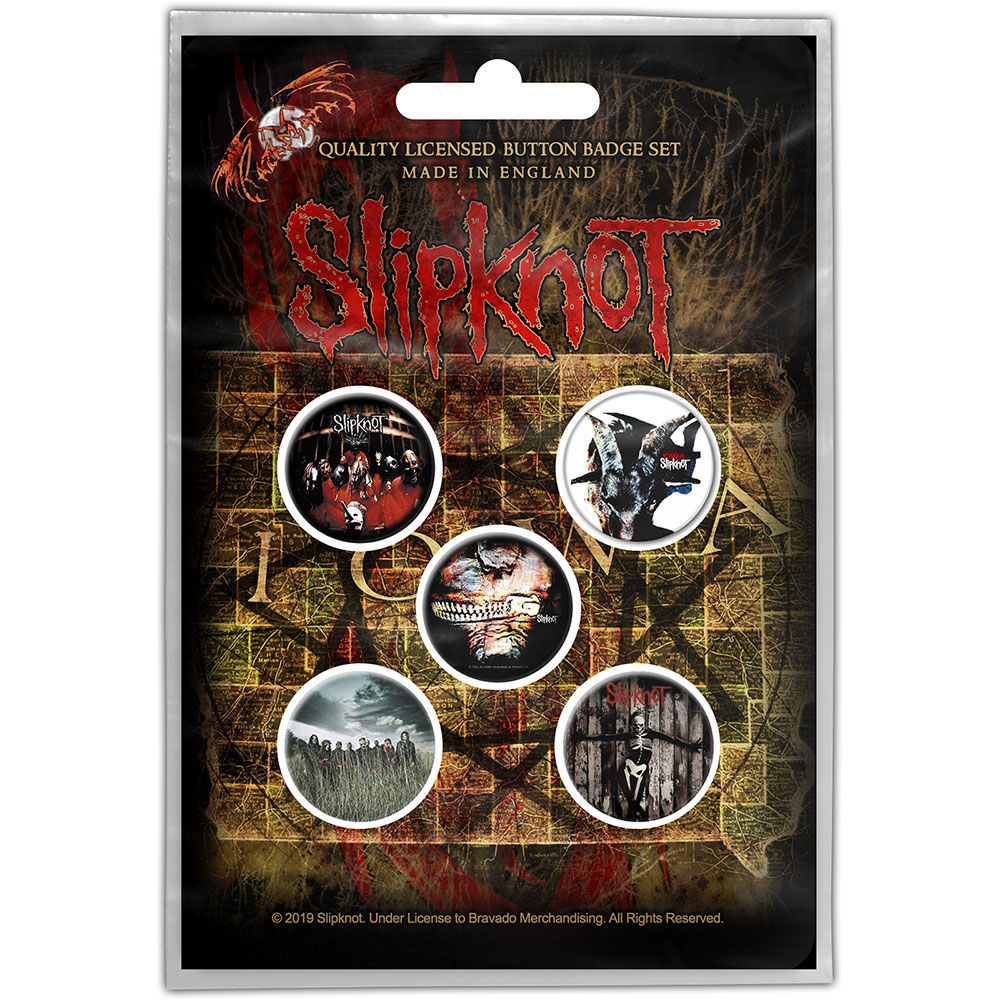 Slipknot Button Badge Pack: Albums (Retail Pack)