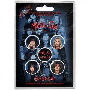 Motley Crue Button Badge Pack: Girls