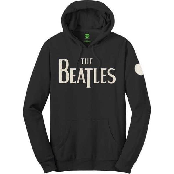 The Beatles Mens Pullover Hoodie: Logo & Apple (Applique Motifs) (XX-Large)