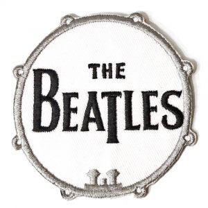 The Beatles Standard Patch: Drum Logo