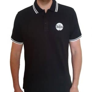 The Beatles Mens Polo Shirt: Drum Logo (XX-Large)