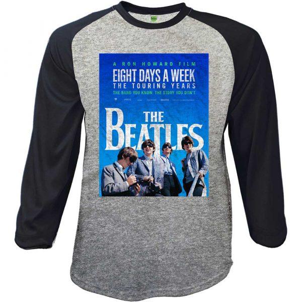 The Beatles Mens Raglan T-Shirt: 8 Days a Week Movie Poster (XX-Large)
