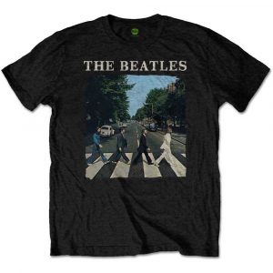 The Beatles Mens Premium T-Shirt: Abbey Road & Logo (XX-Large)