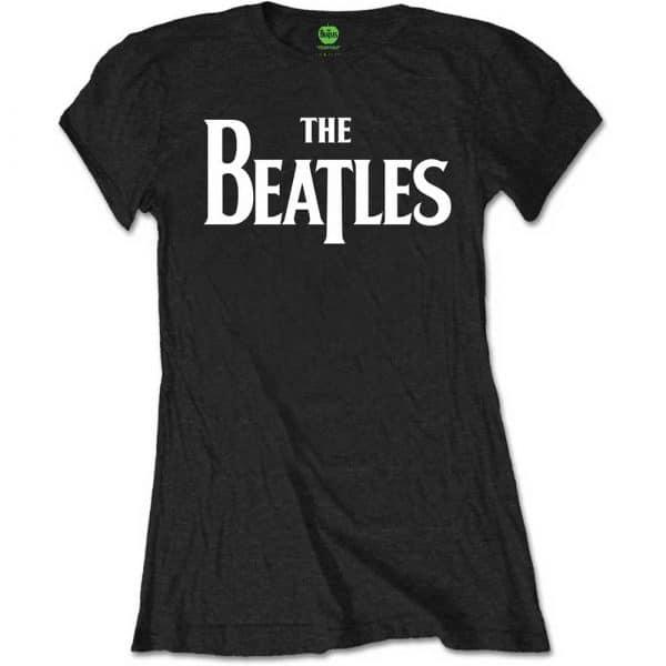 The Beatles Ladies T-Shirt: Drop T Logo (Retail Pack) (XX-Large)