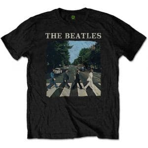 The Beatles Mens T-Shirt: Abbey Road & Logo (Retail Pack) (XX-Large)