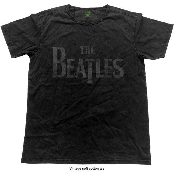 The Beatles Mens Fashion T-Shirt: Logo (Vintage Finish) (XX-Large)