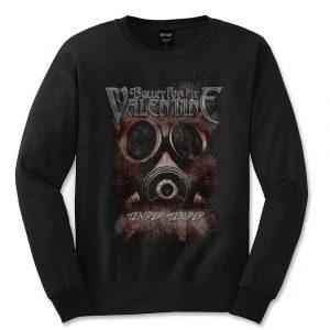 Bullet For My Valentine Mens Long Sleeved T-Shirt: Temper Temper Gas Mask (XX-Large)