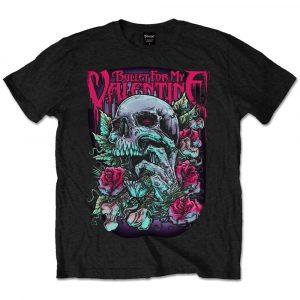 Bullet For My Valentine Mens T-Shirt: Skull Red Eyes