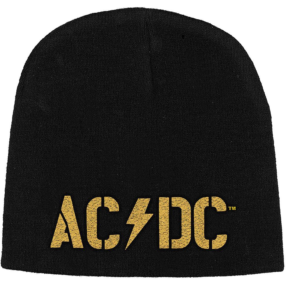 AC/DC Unisex Beanie Hat: PWR-UP Band Logo