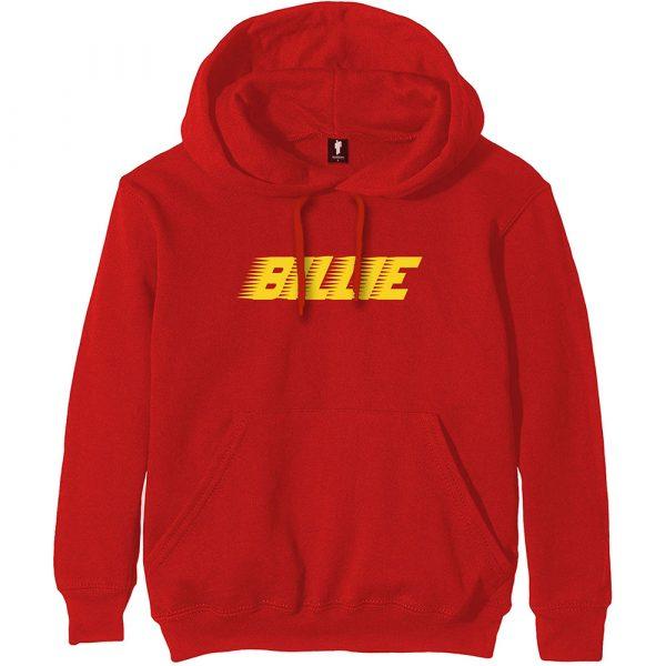 Billie Eilish Mens Pullover Hoodie: Racer Logo (XX-Large)